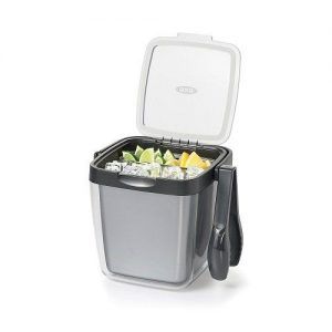 Double Wall Ice Bucket with Tongs and Garnish Tray
