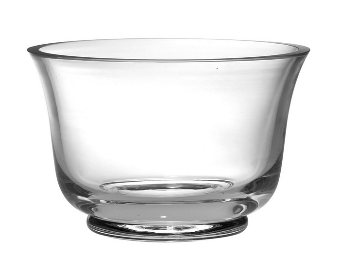 "Glass Thick Revere Bowl 9""D"