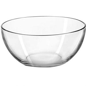 Clear Selene Glass Salad Bowl