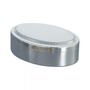 4.5x3  Oval Silver Box