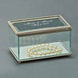 "5 1/4"" Glass & Silver Box"