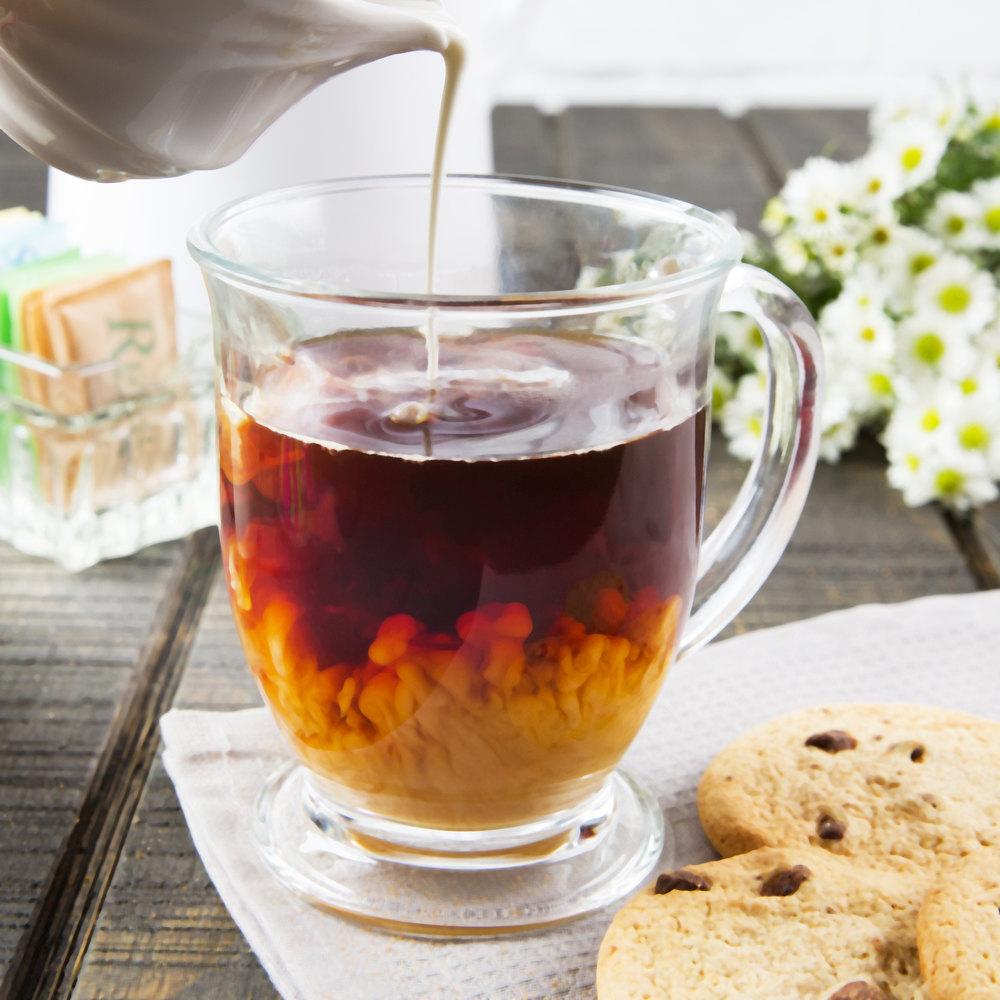 Acopa 16 oz. Clear Glass Cafe Mug