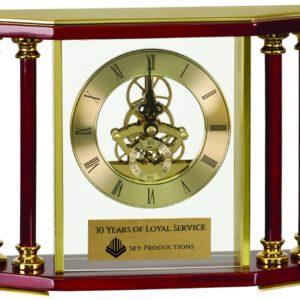 """7 1/4"""" Executive  4-Pillar Clock"""