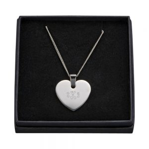SS. Heart Necklace W/chain