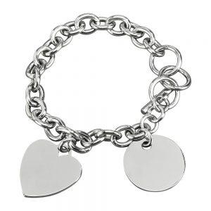 Charm Bracelet w/ heart disk