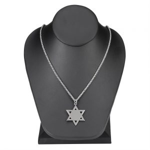 """Stainless Steel 1.375"""" Star of David"""