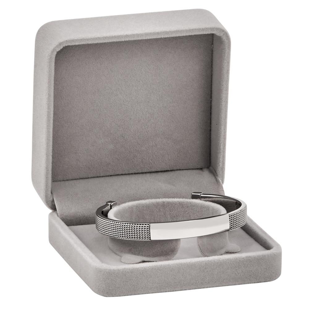 Meshlike Cuff Bracelet Stainless Steel