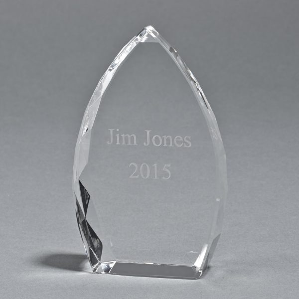 """OPTIC CRYSTAL TROPHY POINT, 5"""" HT"""