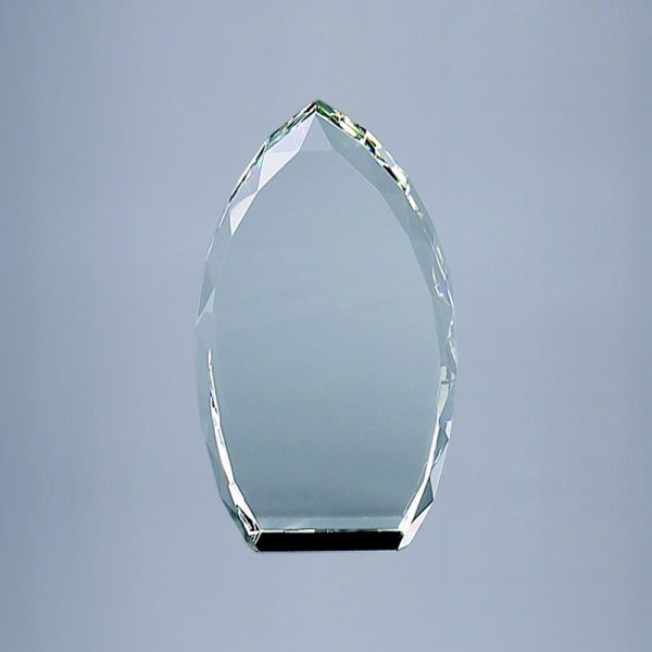 """OPTIC CRYSTAL TROPHY POINT, 7"""" HT"""
