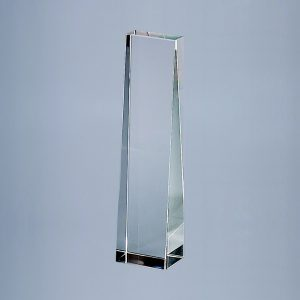 "OPTIC CRYSTAL OBELISK, 8.75"" HT"