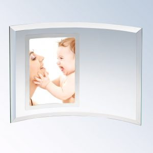 5x7 Curved Vertical Silver Picture Frame