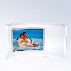 5x7 Curved Horizontal Silver  Picture Frame