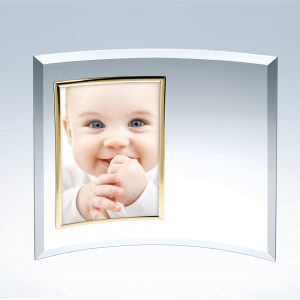 5x7 Curved Vertical Gold Picture Frame