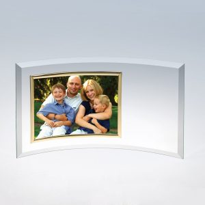 5x7 Curved Horizontal Gold Picture Frame