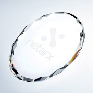 Gem-cut Oval Paperweight