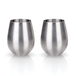 18 oz Stainless Stemlees Wine