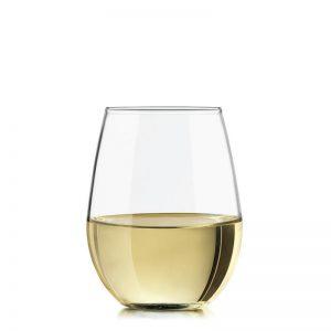 11.75 oz Stemless white Wine